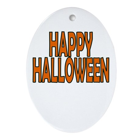 Happy Halloween Oval Ornament