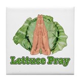 Lettuce Pray Tile Coaster