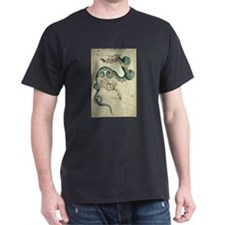 DRACO/URSA MINOR dragon/bear picture black t-shirt