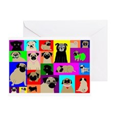 Lots o Pugs Greeting Card