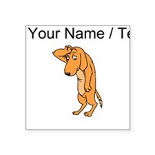 Custom Dramatic Dog Sticker