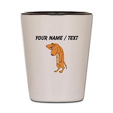 Custom Dramatic Dog Shot Glass