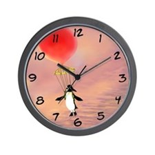"""I Can Fly!"" Penguin Wall Clock"