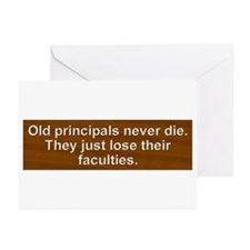 Old Principals 2 Greeting Cards (Pk of 20)