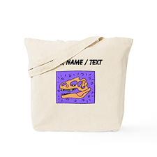 Custom T Rex Dinosaur Skull Tote Bag