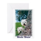 Westie Watch Greeting Card
