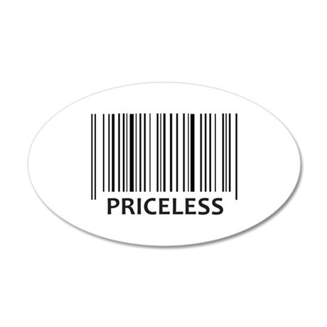 PRICELESS BAR CODE Wall Decal