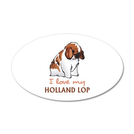 I Love My Holland Lop Wall Decal