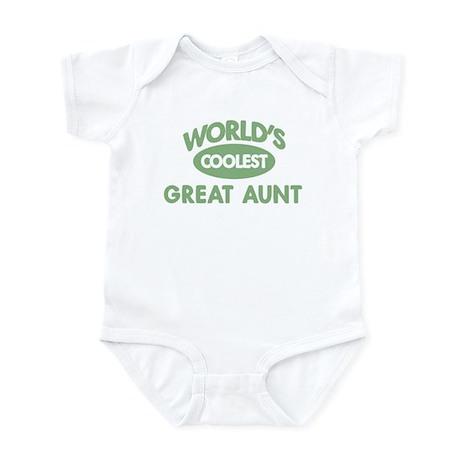 Coolest GREAT AUNT Infant Bodysuit