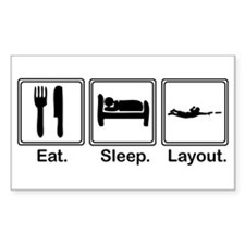 Eat, Sleep, Layout Rectangle Decal