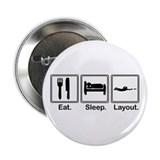 Eat, Sleep, Layout 2.25&quot; Button (10 pack)