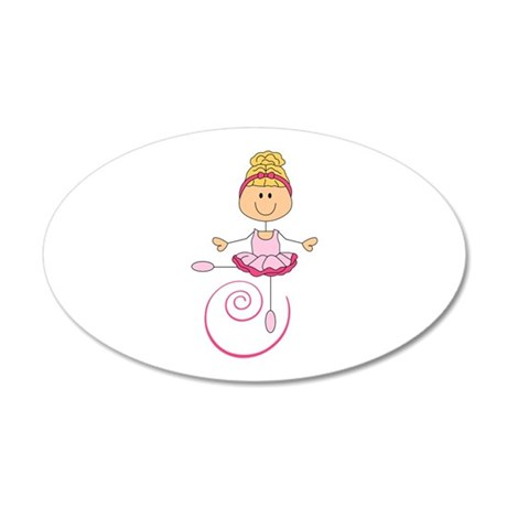 TWIRLING BALLERINA Wall Decal