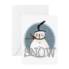 Snowman Greeting Card