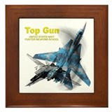 US Navy Fighter Weapons Schoo Framed Tile