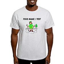 Custom Girl Skier T-Shirt