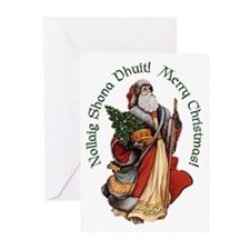 Santa (Irish & English) Christmas Cards (Pk of 20)