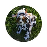 Cavalier Cow Ornament (Round)
