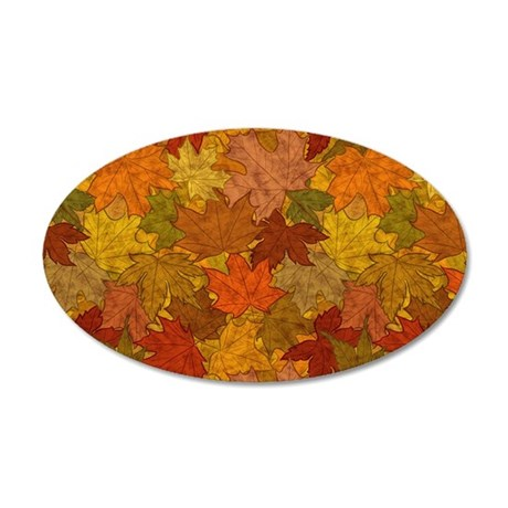 Fall Token 20x12 Oval Wall Decal
