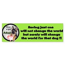 Rescue a GSD Bumper Bumper Sticker