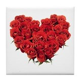 Heart of Roses Tile Coaster