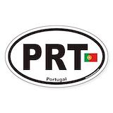 Portugal oval sticker Bumper Stickers