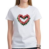 Red Rose Heart Tee