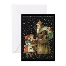 Village Santa Christmas Cards (Pk of 20)