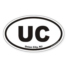 Union City New Jersey UC Euro Oval Decal