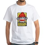 Sock Monkey White T-Shirt