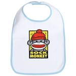 Sock Monkey Bib