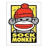 Sock Monkey Small Poster