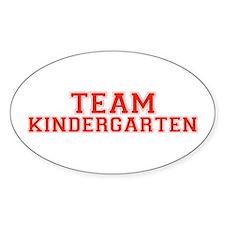 Team Kindergarten Oval Decal