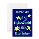 Out of this World 15th Birthday Card