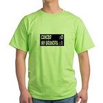 'Cancer:0 My Grandpa:1' Green T-Shirt