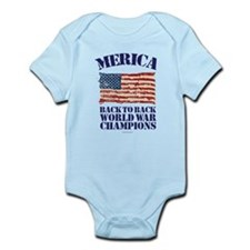 Merica Back to Back World War Champions Body Suit