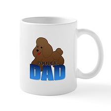 Brown Poodle Dad Mug