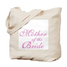 Mother of the Bride Pink Text Tote Bag