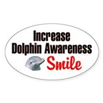 Increase Dolphin Awareness Oval Sticker