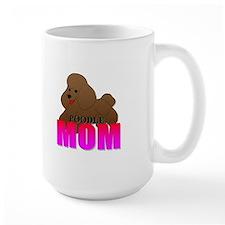 Brown Poodle Mom Mug