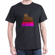 Brown Poodle Mom T-Shirt