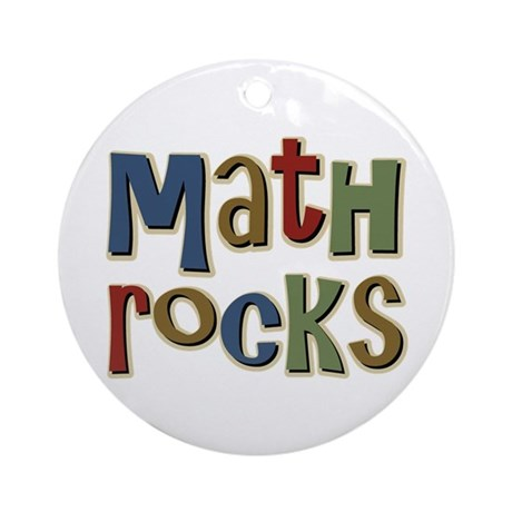 Math Rocks Arithmetic Geek Ornament (Round)