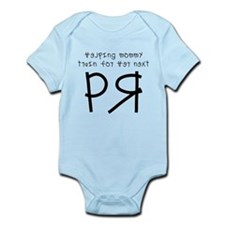 Mommy Training for a PR Infant Bodysuit