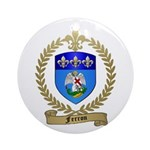 FERRON Family Crest Ornament (Round)