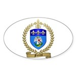 FERRON Family Crest Oval Sticker