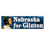 Nebraska for Clinton Bumper Sticker