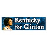 Kentucky for Clinton 2008 bumper sticker