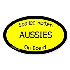 Spoiled Aussies On Board Oval Decal