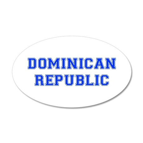 Dominican Republic-Var blue 400 Wall Decal