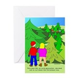 Geocaching Christmas Greeting Card