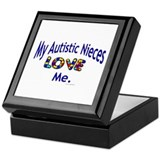 My Autistic Nieces Love Me Keepsake Box